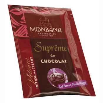 Dosette de Suprême de Chocolat en poudre arôme Fruits Rouges Monbana -121M166