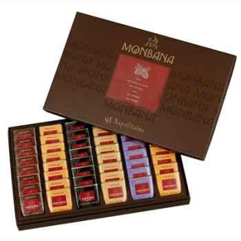 Coffret cadeaux écrin de 48 Napolitains Monbana -11180116