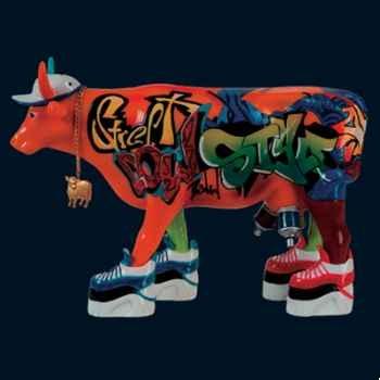 Vache Graffiti Art Art in the City - 80625
