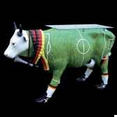 vache soccer table cow in country design art in the city 80906