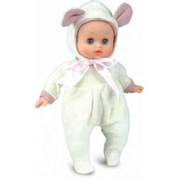 Bébé Petit Calin-28cm-blanc-Petit mouton-corps souple-yeux dormeurs-622895