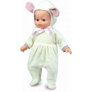 Bébé Petit Calin-36 cm-blanc-Petit mouton-corps souple-yeux dormeurs-623695