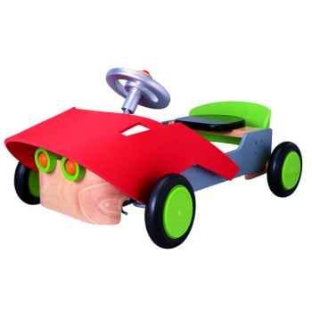 Porteur Voiture Sport en bois Plan Toys-3407