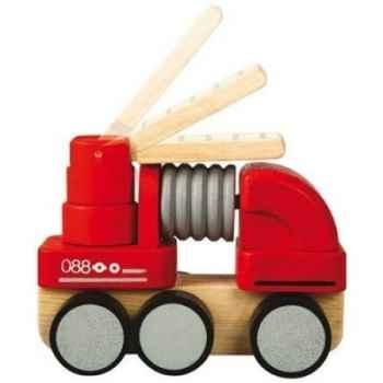 Camion de pompiers 18 cm jouet en bois plantoys 6320