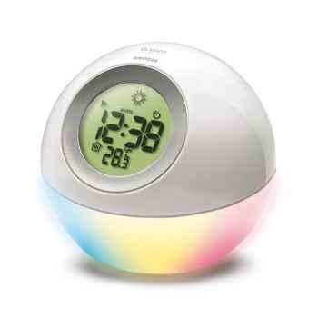 Réveil météo avec veilleuse et capteur lumineux Oregon scientific-BAR669