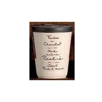 2 fondue au chocolat Saint Valentin noir et praliné Aux Anysetiers du Roy - V325x2