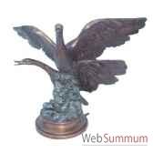 fontaine a bassin en bronze brz1094