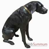chien en bronze brz106