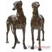 chien en bronze brz144