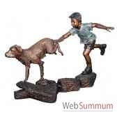 enfant en bronze brz1308