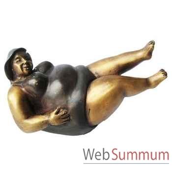 Statuette femme contemporaine en bronze -BRZ1109-41
