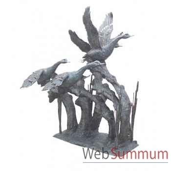 Fontaine à bassin en bronze -BRZ493V