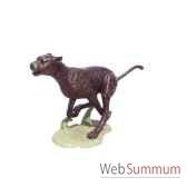 leopard en bronze brz147