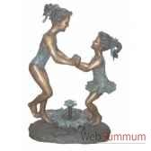 fontaine a bassin en bronze brz509