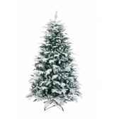 sapin oslo snow pine hook on flocked white h210cm van der gucht 31osl210