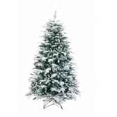 sapin oslo snow pine hook on flocked white h225cm van der gucht 31osl225