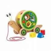 escargot roulant avec jeu de formes hape e0349