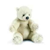 anima peluche ours polaire assis 35 cm 1830