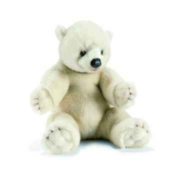 Anima - Peluche ours polaire assis 35 cm -1830