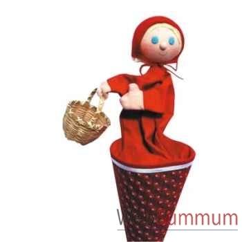 Marionnette marotte Anima Scéna - Le petit Chaperon rouge - environ 53 cm - 11041b