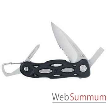 LEATHERMAN-830369-Couteau modèle e303, lame mi-crantée, couteau fermé 9,84 cm, garantie 25 ans.