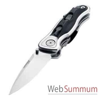 LEATHERMAN-830430-Couteau modèle e306x, lame droite, couteau fermé 9,84, étui nylon, garantie 25 ans.
