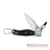 leatherman 830433 couteau modele e307x lame mi crantee couteau ferme 984 cm etui nylon garantie 25 ans