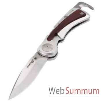 LEATHERMAN-830633-Couteau grande chasse modèle Klamath S30V, lame repliable, étui en cuir, garantie 25 ans.