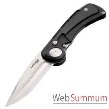 LEATHERMAN-830635-Couteau grande chasse modèle Ukiah CM 154, lame pivotante, poids 204g, étui en cuir, garantie 25 ans.