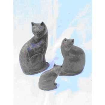 Sculpture chat en pierre Terre Sauvage -STCT01