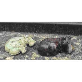 Sculpture hippopotame en pierre Terre Sauvage -SH01