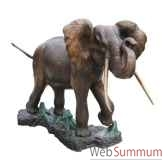 elephant en bronze brz276