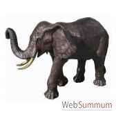 elephant en bronze brz1087
