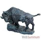 bison en bronze brz1239