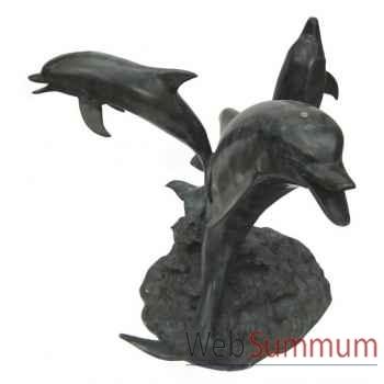 Table basse Dolphinus en bronze -BRZ516