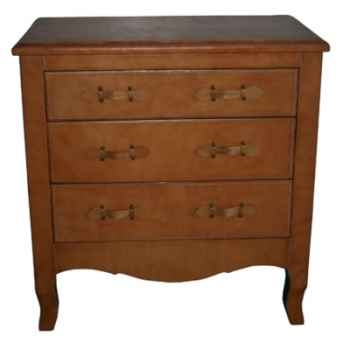 Commode antique en cuir SolxLuna -PN310F