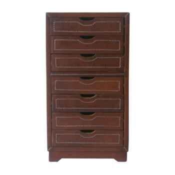 commode 7 tiroirs en cuir solxluna pn311p. Black Bedroom Furniture Sets. Home Design Ideas