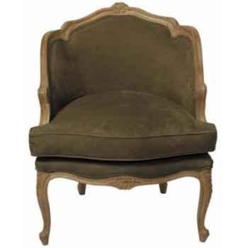 Fauteuil en cuir SolxLuna style bibliothèque -PN601