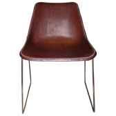 chaise en cuir solxluna pour salle a manger pn914
