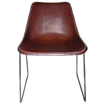 Chaise en cuir SolxLuna pour salle à manger -PN914