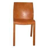 chaise en plastique recouverte de cuir solxluna dos carre pn916