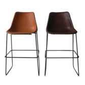 chaise haute en cuir solxluna style giron pour bar pn918