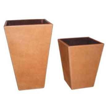 Ensemble de 2 corbeilles à papier en cuir SolxLuna -PN926