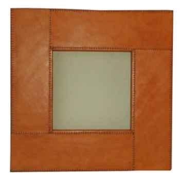 Miroir carré en cuir SolxLuna -PN941