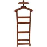 valet de chambre en bois recouvert de cuir solxluna pn957