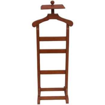 Valet de chambre en bois recouvert de cuir solxluna pn957 - Valet de nuit bois ...