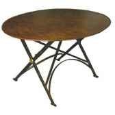 table ovale jardinieres et interieurs pliante rouillee to200r