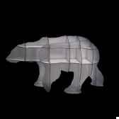 petite bibliotheque centrale ibride ours polaire junior blanc brillant mobc019