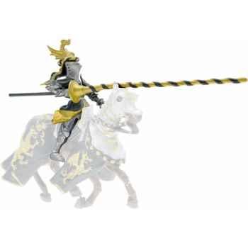 Collection les dragons chevalier cimier dragon, noir et or ( cavalier) figurine sans chevalet Figurine Plastoy 62035