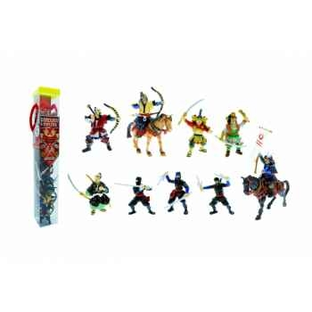 Collection les tubos tubo samouraîs et et ninjas Figurine Plastoy 70373